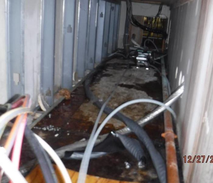 A sofa machine hose burst in a school in Buffalo, NY causing a sticky situation. Before