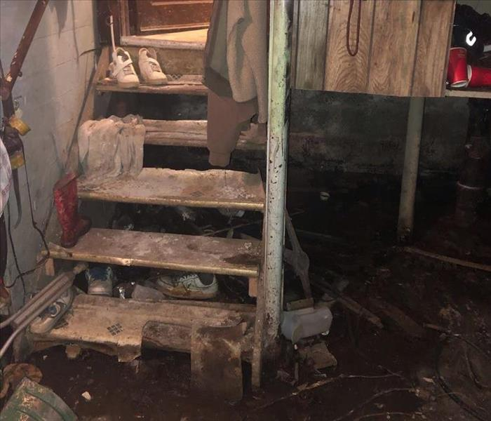Sewage back up in unfinished basement