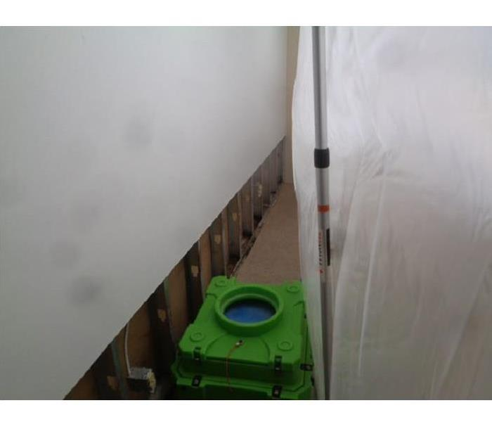 Commercial Mold Remediation with Negative Pressure and Containment
