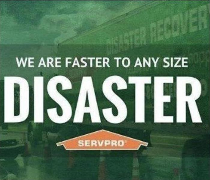 Faster to any size disaster - SERVPRO van in the background